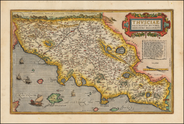 49-Italy and Northern Italy Map By Abraham Ortelius