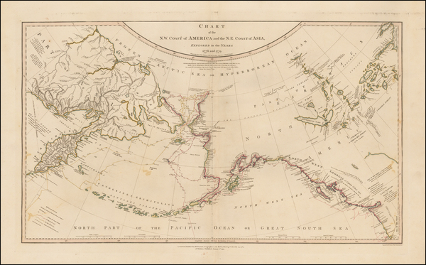 68-Alaska, Canada and Russia in Asia Map By William Faden
