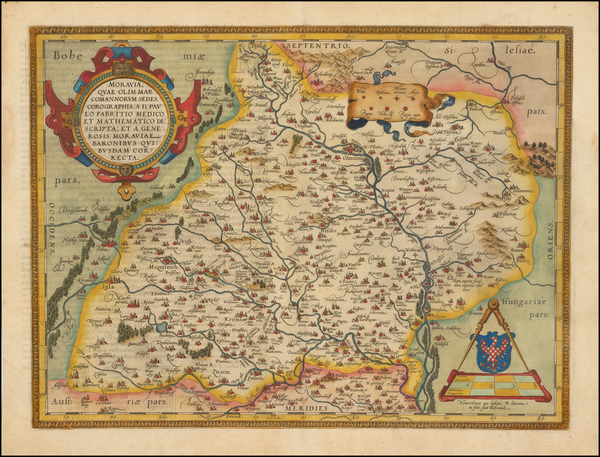 80-Poland and Czech Republic & Slovakia Map By Abraham Ortelius