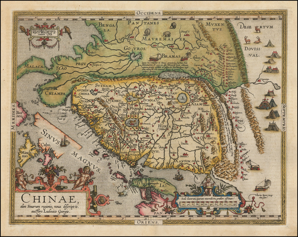 98-China, Japan, Southeast Asia and Philippines Map By Abraham Ortelius