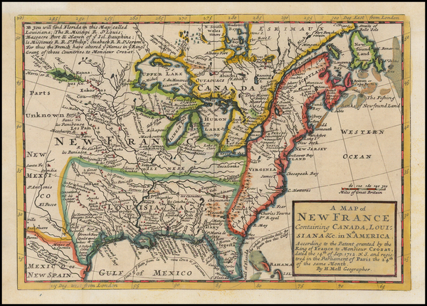6-United States, Midwest and Plains Map By Herman Moll