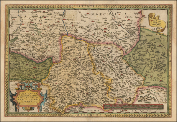 64-Germany and Czech Republic & Slovakia Map By Abraham Ortelius