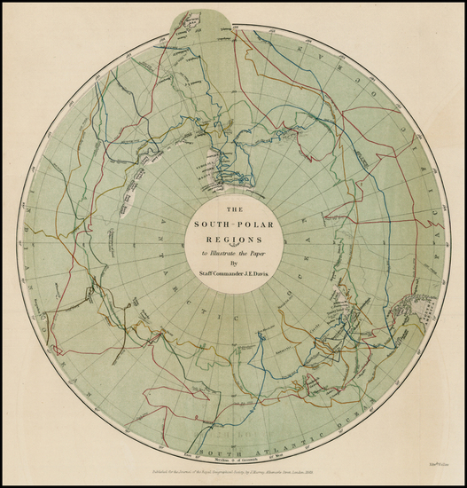 26-Southern Hemisphere and Polar Maps Map By Royal Geographical Society
