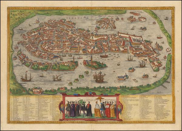 44-Italy Map By Georg Braun  &  Frans Hogenberg