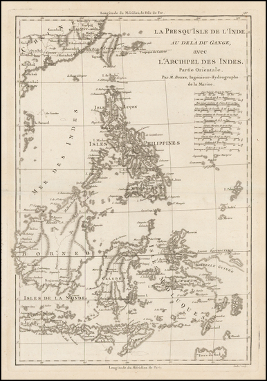 Southeast Asia and Philippines Map By Rigobert Bonne
