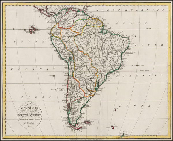 94-South America Map By John Russell