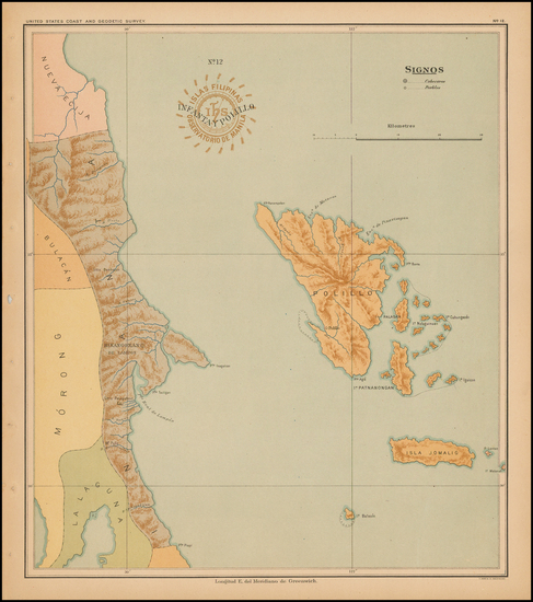 90-Philippines Map By Hoen & Co.