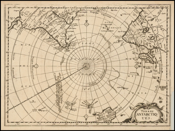 40-Polar Maps and Australia Map By Henri Du Sauzet