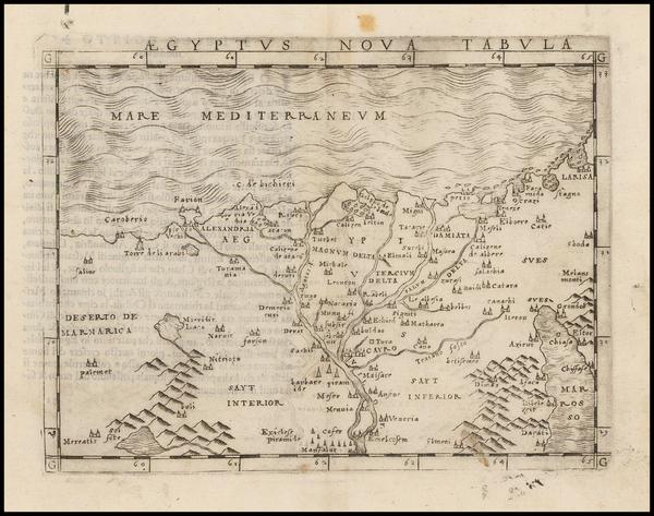 16-Egypt Map By Giacomo Gastaldi