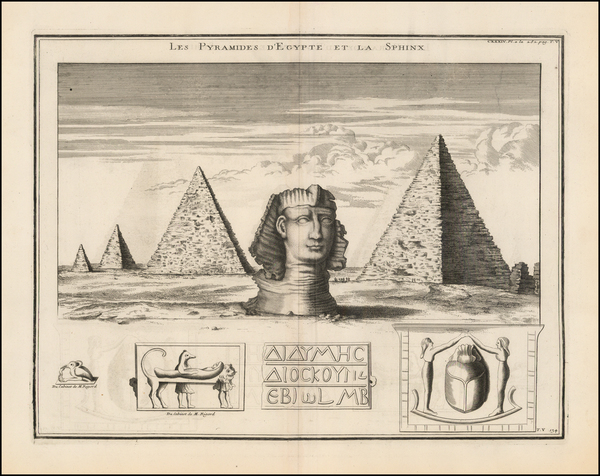 93-Egypt Map By Bernard de Montfaucon