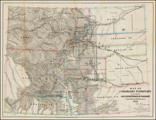 41-Rocky Mountains and Colorado Map By Major & Knapp