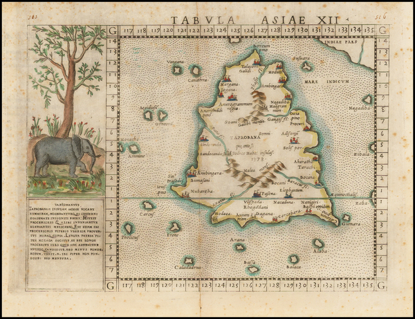 20-India and Other Islands Map By Girolamo Ruscelli