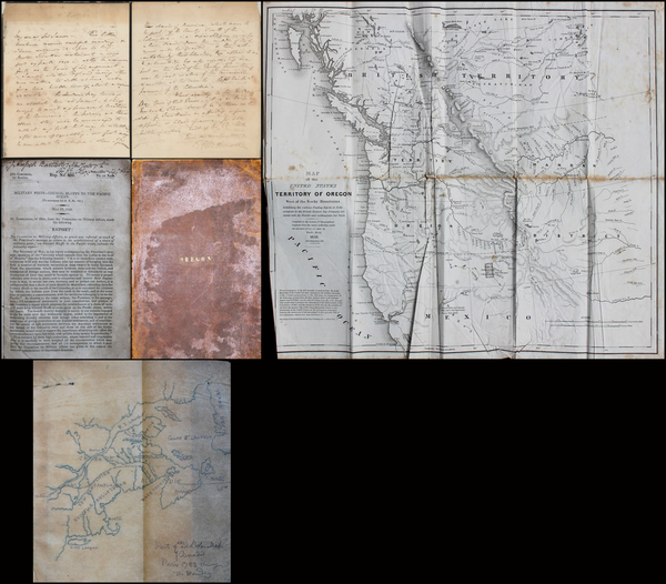 18-Pacific Northwest and Oregon Map By Sir James Edward Alexander