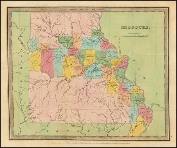 Midwest, Plains and Missouri Map By David Hugh Burr
