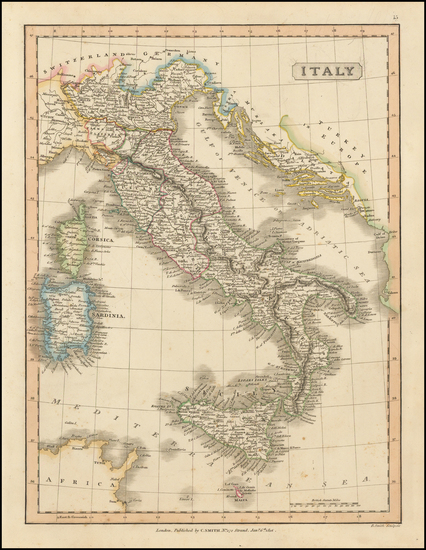 35-Italy and Balearic Islands Map By Charles Smith