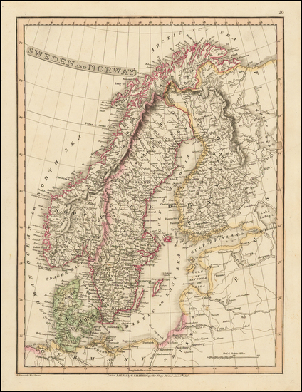 37-Scandinavia Map By Charles Smith