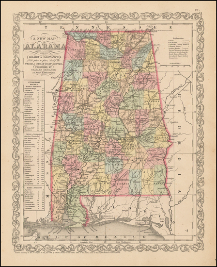 36-South and Alabama Map By Charles Desilver