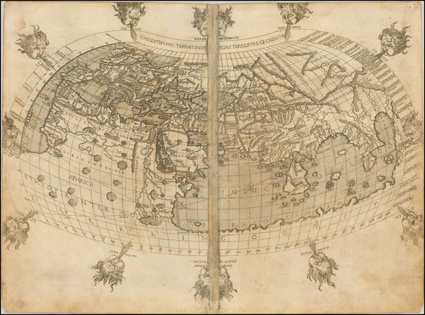 8-World and World Map By Francesco Berlinghieri