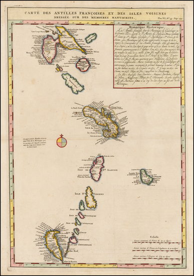 8-Caribbean and Other Islands Map By Henri Chatelain