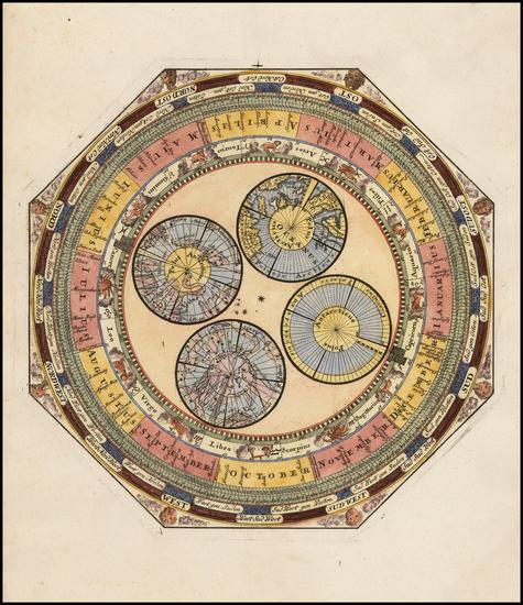 63-Polar Maps and Globes & Instruments Map By Johann Georg Klinger