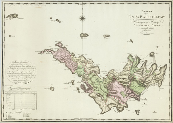 58-Caribbean and Virgin Islands Map By Samuel Fahlberg