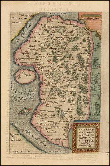 57-Germany and Baltic Countries Map By Abraham Ortelius