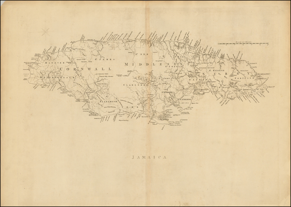 51-Caribbean and Jamaica Map By Thomas Jefferys