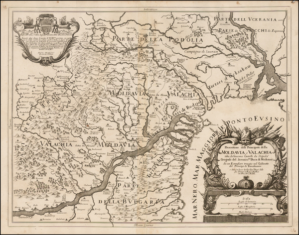 79-Ukraine, Romania and Balkans Map By Giacomo Giovanni Rossi
