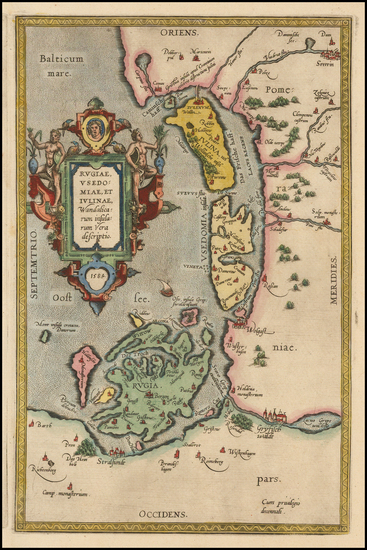 93-Germany and Poland Map By Abraham Ortelius