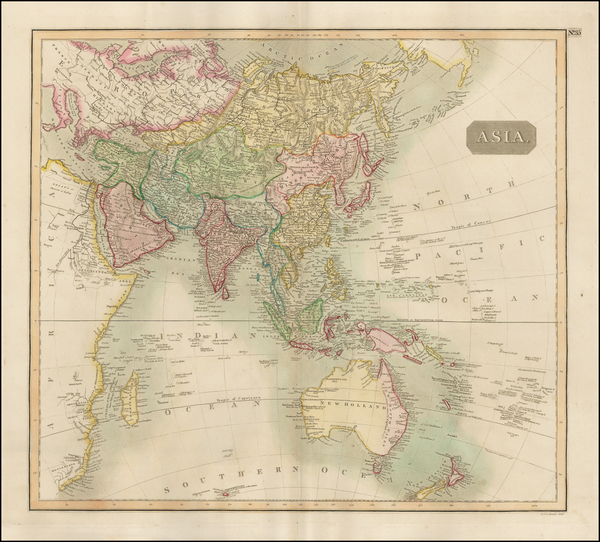 15-Asia, Australia & Oceania, Australia, Oceania and Other Pacific Islands Map By John Thomson