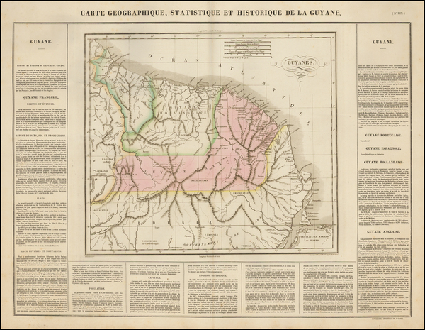 100-South America and Guianas & Suriname Map By Jean Alexandre Buchon