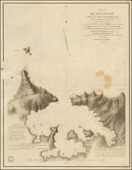 1-African Islands, including Madagascar Map By Depot de la Marine