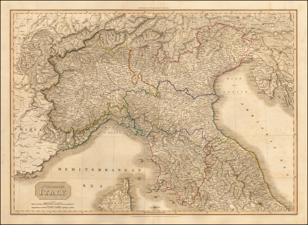 91-Italy and Northern Italy Map By John Pinkerton