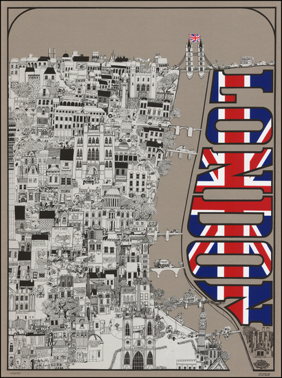 0-British Isles and London Map By David Schiller