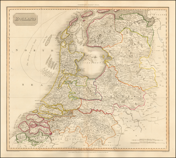 80-Netherlands Map By John Pinkerton