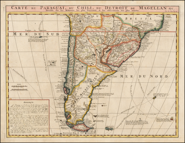 43-South America, Argentina and Chile Map By Henri Chatelain