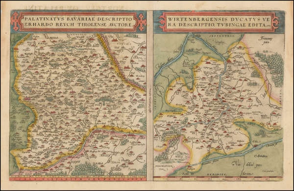97-France and Germany Map By Abraham Ortelius