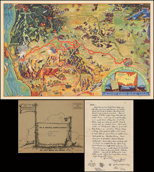 73-Southeast, Plains, Rocky Mountains and California Map By H.C. Holling