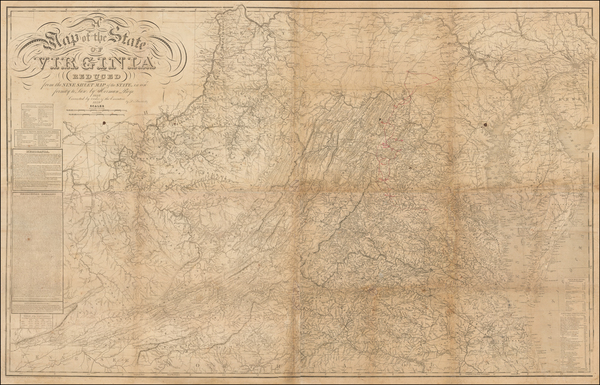 44-Virginia and Civil War Map By Herman Boye