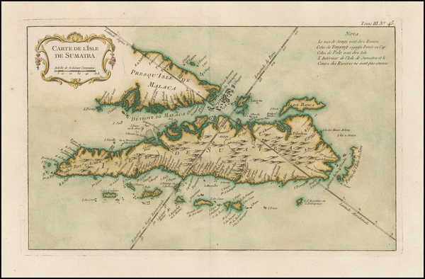 29-Southeast Asia and Singapore Map By Jacques Nicolas Bellin