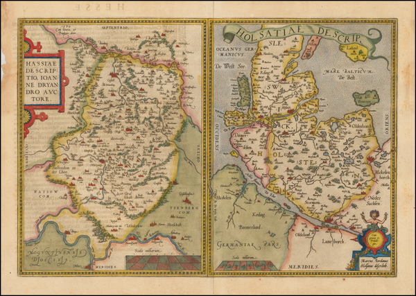 28-Germany Map By Abraham Ortelius
