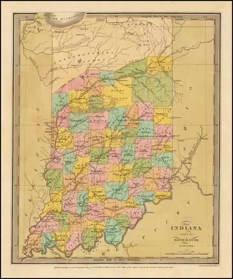 88-Midwest and Indiana Map By David Hugh Burr