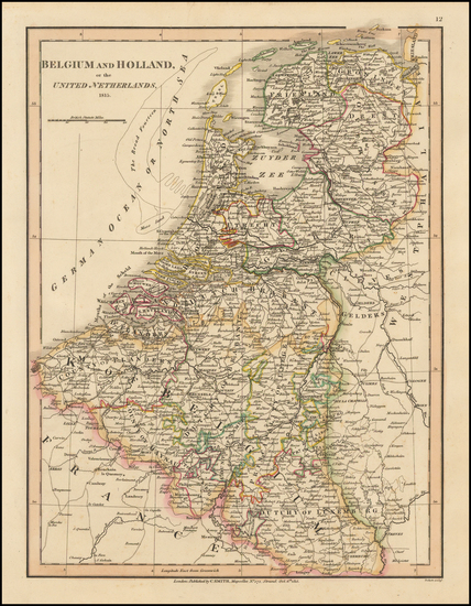 Netherlands Map By Charles Smith