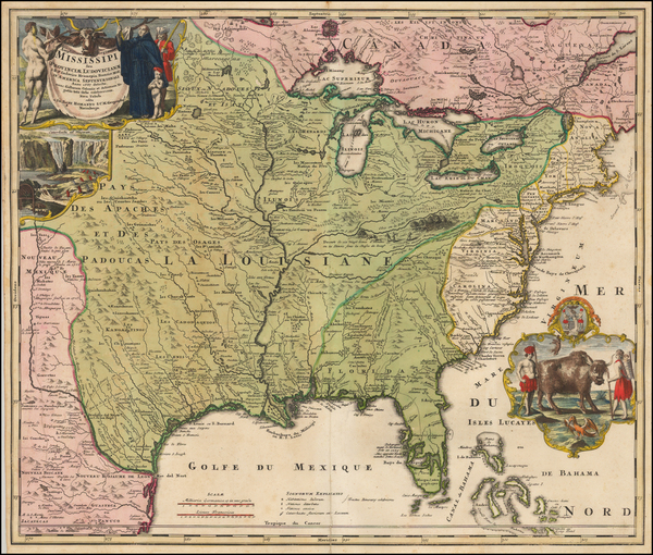 38-United States, South, Southeast, Texas, Midwest, Plains and Southwest Map By Johann Baptist Hom