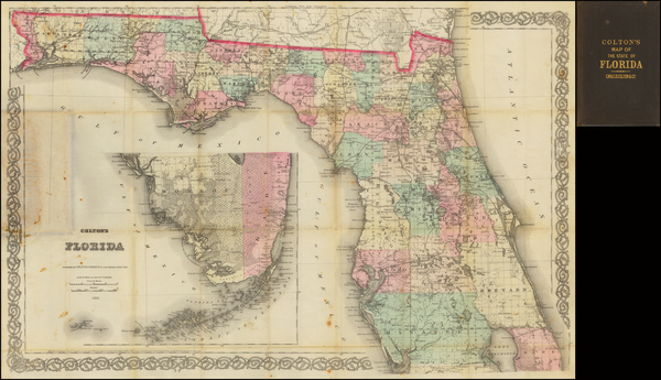 99-Florida Map By G.W.  & C.B. Colton