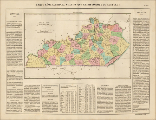 16-South and Kentucky Map By Jean Alexandre Buchon