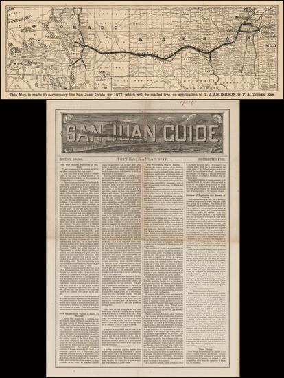 55-Rocky Mountains and Colorado Map By Woodward, Tiernan & Hale