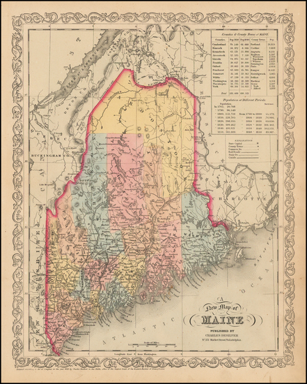 98-New England and Maine Map By Charles Desilver
