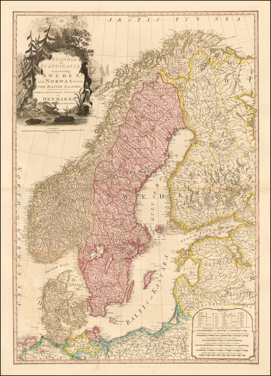 41-Baltic Countries and Scandinavia Map By William Faden