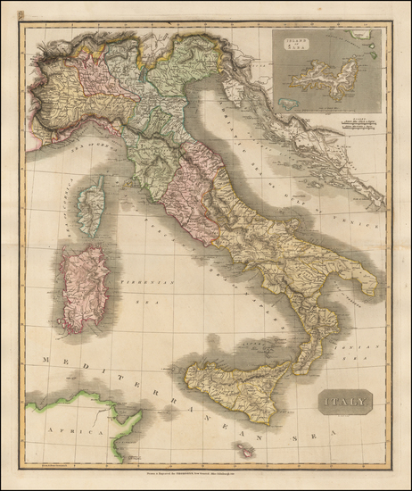 14-Italy, Mediterranean and Balearic Islands Map By John Thomson